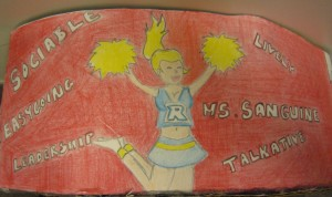 Illustration of a cheerleader