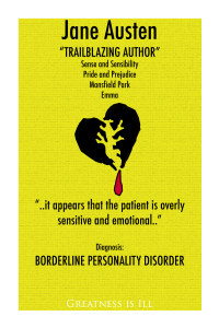 Yellow poster of Borderline Personality Disorder