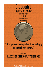 Orange poster of Narcissistic Personality Disorder