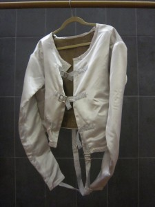 Straight jacket on hanger