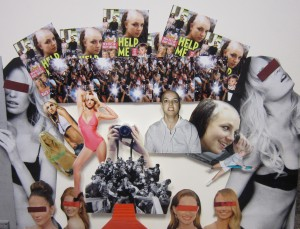 Collage with images of Britney Spears' face over the course of her career
