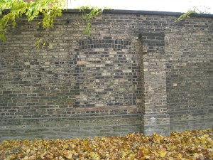 Photograph of a brick wall