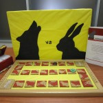 Board game about a wolf and rabbit.