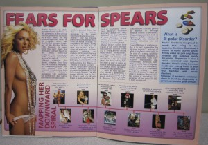Mock magazine article about Britney Spears.